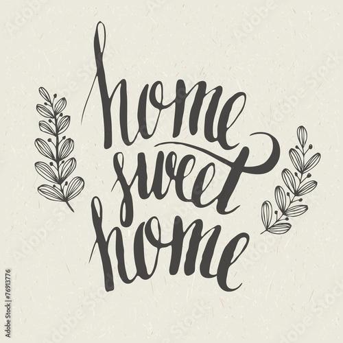 Plakát Sweet home lettering