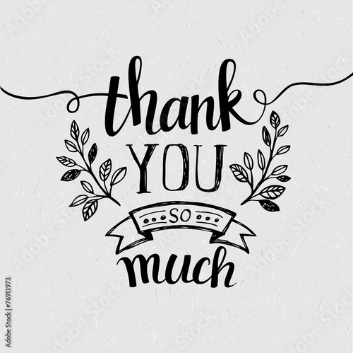 Lettering Thank you. Vector illustration - 76913973