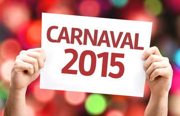 Carnaval 2015card with colorful background