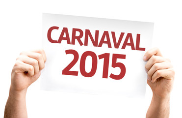 Carnaval 2015 card isolated on white background