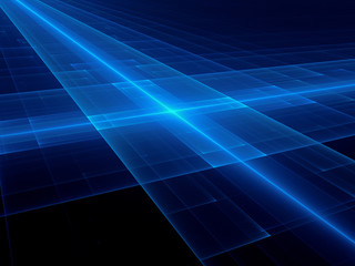 Glowing blue futuristic surface background