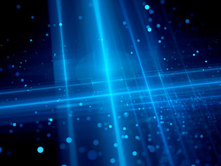 Blue glowing futuristic technology background