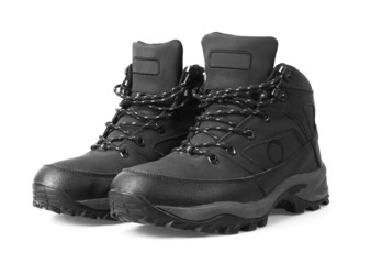 Man's winter boots of black color