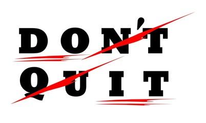 don't quit DO IT motivational icon