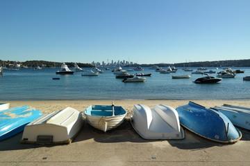 Boote vor Sydney Skyline