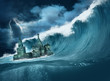 Apocalypse flood Kremlin with giant wave - 76915340