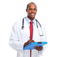 Medical doctor writing prescription.