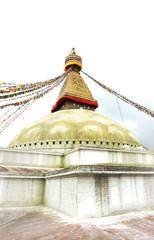 Flags  surrounding the Swayambhunath Stupa