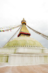 upper portion of  the Swayambhunath Stupa Nepal