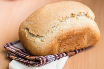 Freshly baked white bread