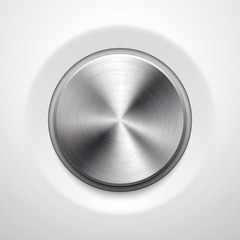 Abstract Technology Button with Metal Texture