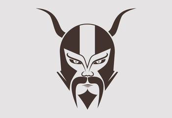 Viking helmet vector logo