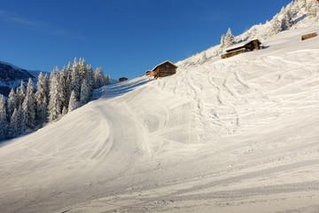 Schipiste am Penken Mayrhofen im Zillertal