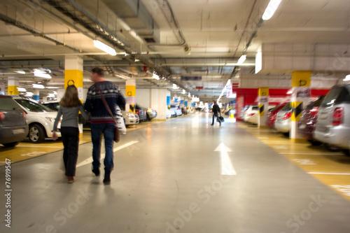 Leinwanddruck Bild Parking garage