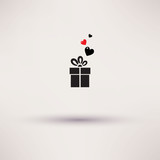 Pictograph of gift Vector icon Template design. poster