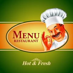 menu chef restaurant