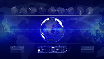 abstract technology background LOOP