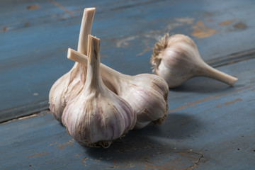 Garlic on table