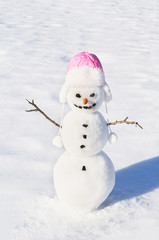 Snowman with carrot nose