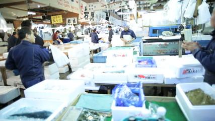 Tsukiji Fish Market Tokyo Japanese Trade Economy Fresh Fishing Industry