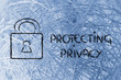 internet security and lock: risks for confidential information