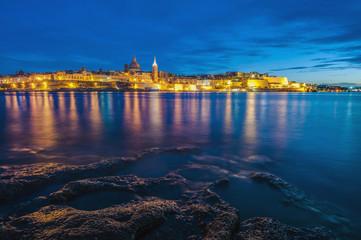 Valletta seafront skyline view, Malta