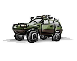 Tuned jeep, sketch for your design