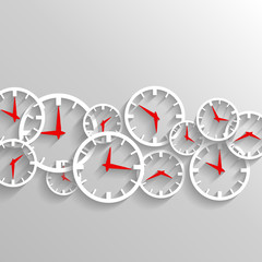 Time for business, watch elements background