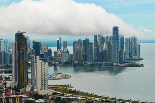 Tuinposter Centraal-Amerika Landen Panama city landscape
