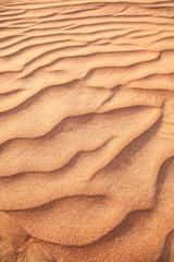 Rippled sand in desert.