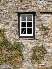 Window in an old house in Tintagel, Cornwall