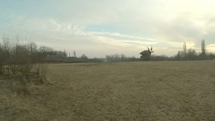 Aerial view of the village Pirogov, Ukraine