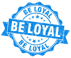 be loyal blue vintage isolated seal