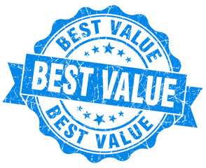 best value blue vintage isolated seal