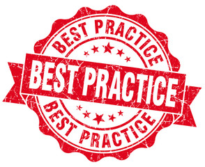 best practice red vintage isolated seal