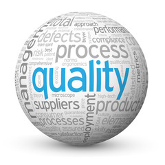 """QUALITY"""" Tag Cloud Globe (total customer service satisfaction)"""