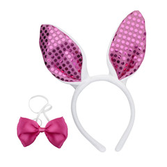Easter Bunny Ears and pink bow tie
