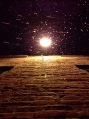 snowing from above