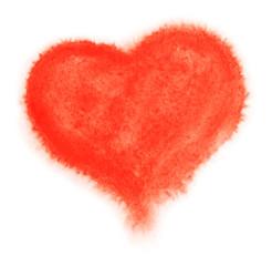 Watercolor heart. Vector