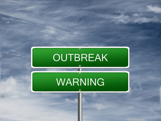 Outbreak Warning Alert Sign