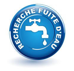 recherche fuite d'eau sur bouton bleu