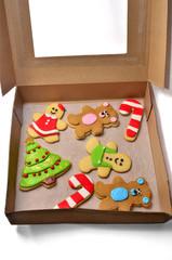 Caja de galletas navideñas