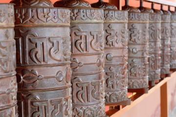 Prayer wheels. Thrangu Tashi monastery-Nepal. 0980
