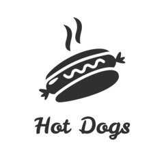 Simple web icon in vector hot dog