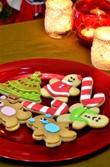 Galletas y decoración de navidad