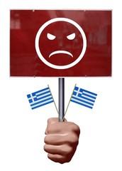 Manifestant grec mécontent