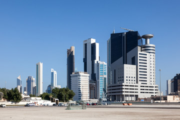 Buildings downtown in Kuwait City, Middle East