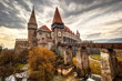 Leinwandbild Motiv Corvinesti Castle, Hunedoara, Romania