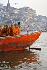 India - Varanasi - Ghat e barche sul fiume Gange