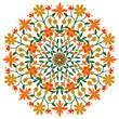 floral pattern element
